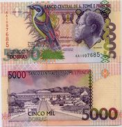 SAINT THOMAS & PRINCE       5000 Dobras       P-65a       22.10.1996       UNC - San Tomé E Principe