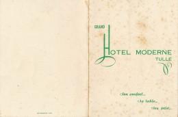 AC-B3361- Menu  Grand Hotel Moderne De Tulle Du 11 Mai 1955  (Précisions , état... Voir Scans) - Menus
