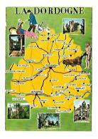 A TRAVERS LA DORDOGNE - Cartes Géographiques