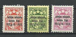 LETTLAND Latvia 1932 Michel 206 - 208 MNH - Lettonie