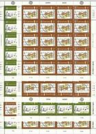 1985 Guernsey EUROPA CEPT EUROPE 80 Serie Di 2v. In 8 Minifogli MNH** Minisheets - Europa-CEPT