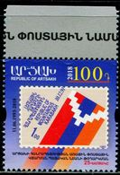 XE0696 Karabakh 2018 Independence Day Flag Ticket 1V MNH - Sonstige - Europa