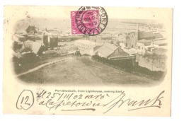 SOUTH AFRICA - PORT ELIZABETH - FROM LIGHTHOUSE LOOKING EAST - STAMP - MAILED TO ITALY 1902 ( 2774 ) - Afrique Du Sud