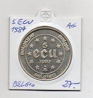Belgio - 1987 - 5 ECU - Argento - (MW1375) - Belgio