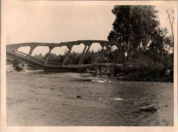 ! Foto 11,6 X 8,7cm, 2. Weltkrieg 1940 Westfeldzug, Zerstörte Brücke, Bridge, Pont, Rhein Marne Kanal, Canal Frankreich - Weltkrieg 1939-45