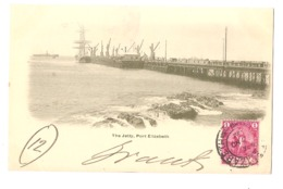 SOUTH AFRICA - PORT ELIZABETH -THE JETTY - STAMP - MAILED TO ITALY 1902 ( 2778) - Afrique Du Sud