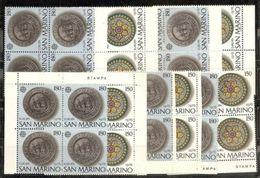 1976 San Marino Saint Marin EUROPA CEPT EUROPE 23 Serie Di 2v. MNH** - 1976