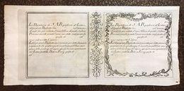 DEPOSITERIA GRANDUCALE TOSCANA BIGLIETTI 1766 1 LIBBRA INCISIONE DI ANTONIO TEMPESTA Q.FDS Cm.107 - Unclassified