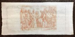 DEPOSITERIA GRANDUCALE TOSCANA BIGLIETTI 1766 1/2 LIBBRA INCISIONE DI JACQUES CALLOT Q.FDS Cm.118 - Unclassified