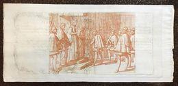 DEPOSITERIA GRANDUCALE TOSCANA BIGLIETTI 1766 1/2 LIBBRA INCISIONE DI ANTONIO TEMPESTA Q.FDS Cm.140 - Italy