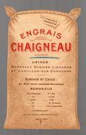 Bordeaux (33 Gironde) Belle Publicité EN DECOUPE En Forme De Sac ENGRAIS CHAIGNEAU (PPP14234) - Advertising