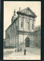 CPA - AMIENS - L'Eglise Saint Acheul, Animé - Amiens
