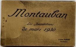 82 MONTAUBAN - Les Inondations De Mars 1930 - Album Carnet De 14 Cartes Postales Détachables Cliché JAUBERT - Montauban