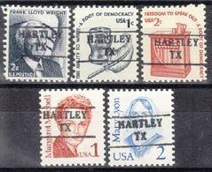 USA Precancel Vorausentwertung Preo, Locals Texas, Hartley 882, 5 Diff. - Vereinigte Staaten