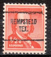 USA Precancel Vorausentwertung Preo, Locals Texas, Hempstead 704 - Vereinigte Staaten