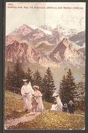 Carte P ( Suisse / Aufstieg Zum Rigi Mit Glärnisch 2910 M ) - SZ Schwyz