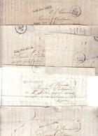 DOSSIER. BAR-SUR-SEINE. AUBE.  6 LETTRES AVEC MP 9/BAR-SUR-SEINE (1829-1830) 18 SCANS - China (Hong Kong)