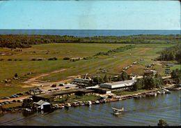 ! 1977 Ansichtskarte Seaplane Base Sunbeam Hotel, Sturgeon Falls Ontario, Canada, Kanada, Flugplatz, Wasserflugzeug - Aerodrome