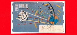 SPAGNA - Usato - 1996 - Etichette ATM - World Globe - Space (2) Clear Blue - Termico - 65 - 1931-Oggi: 2. Rep. - ... Juan Carlos I