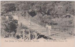 Mexique : VERA  CRUZ , Ruta De , Railway Compagny Ltd , , Foot Bridge , Pont , Plantation , Cordoba - México
