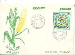 Egypt FDC 1979 Food Security, Honeycomb With Food Symbols - Egypt