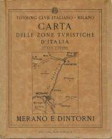 CG 8 - CARTA DELLE ZONE TURISTICHE - MERANO E DINTORNI - Cartes Géographiques