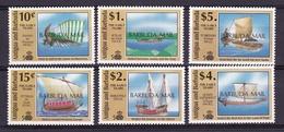 Barbuda1991XxNavires Anciens - Marco Polo - Pytheas - HatshepoutY&T1176 à 1183 - Sauf 1178 & 1179 - Barbades (1966-...)