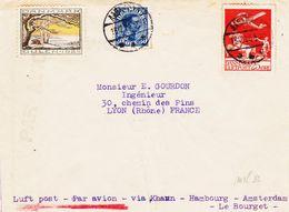 Danemark, Poste Aerienne En 1925, Via Khann, Hambourg ,amsterdam Et Le Bourget   TB - Poste Aérienne
