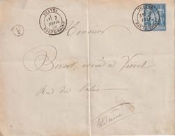 FRANCE 1886 LETTRE DE TRAVES - Marcophilie (Lettres)