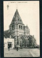 CPA - MOREUIL - L'Eglise, Animé - Moreuil