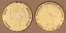 AC - WORLD CUP BAKU 2003 AZERBAIJAN GYMNASTICS FEDERATION 07 - 10 AUGUST 2003 MEDAL MEDALLION - Gymnastique
