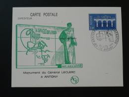 92 Hauts De Seine Antony Monument Général Leclerc Entier Postal Europa Stationery Card - 2. Weltkrieg