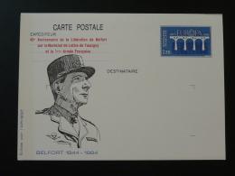 90 Belfort Liberation Maréchal De Lattre Entier Postal Europa Stationery Card - 2. Weltkrieg