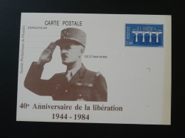 80 Somme Amiens Libération Général Leclerc Entier Postal Europa Stationery Card - 2. Weltkrieg