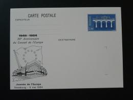 67 Strasbourg 35 Ans Conseil De L'Europe Journée De L'Europe Entier Postal Europa Stationery Card - Europese Instellingen