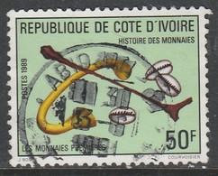 Ivory Coast 1989 History Of Money 50f Multicoloured SW 1030 O Used - Ivory Coast (1960-...)
