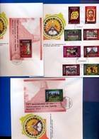 UGANDA FDC 2015 3 First Day Covers With 8 Stamps & 2 Souvenir Sheets Ugandan Martyrs #129 - Oeganda (1962-...)