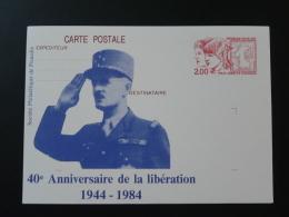 80 Somme 40 Ans Libération Général Leclerc Entier Postal Philex Jeunes Dunkerque Stationery Card - 2. Weltkrieg