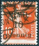 MEMEL, SEMEUSE CAMEE, 1920, FRANCOBOLLI USATI Michel 19y   Scott 19 - Memel (1920-1924)