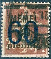 MEMEL, SEMEUSE CAMEE, 1921, FRANCOBOLLI USATI Michel 35   Scott 46 - Memel (1920-1924)