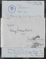 BUSTA IN FRANCHIGIA CON LETTERA DA BOGLIACO LAGO DI GARDA PER PRSTENIC (SERBIA) - CENSURA TEDESCA - 1900-44 Vittorio Emanuele III