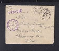 Lettre 918 Verifie Prisonniers De Guerre Auch - Poststempel (Briefe)