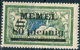 MEMEL, TIPO MERSON, 1920, FRANCOBOLLI NUOVI (MLH*) Michel 25   Scott 25 - Memel (1920-1924)