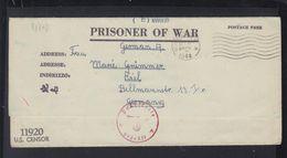 USA Kriegsgefangenensendung 1944 Fort Sam Huston Nach Kiel Poststelle H Geprüft - Germany