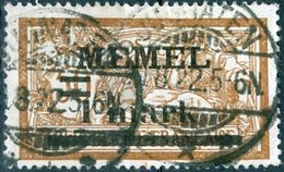 MEMEL, TIPO MERSON, 1920, FRANCOBOLLI USATI Michel 26   Scott 26 - Memel (1920-1924)