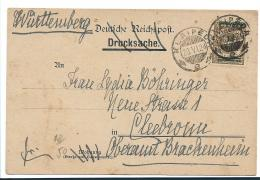 DT-A033 / Klaipeda, Mi.Nr. 206, EF Auf Karte 1924 Nach Cleebronn (WTBG) - Litauen