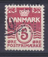 Denmark Perfin Perforé Lochung (D09) 'DAP' Danish American Prospecting, København Wellenlinien Stamp (2 Scans) - Abarten Und Kuriositäten
