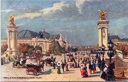 PARIS - Le Pont Alexandre Et Le Grand Palais.    (108207) - Paintings