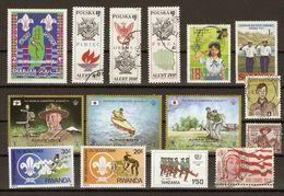 Scouts, éclaireurs  - Petit Lot De 15 Timbres (11° + 4 MNH) - Série Complète Pologne 1778/80 - Jamboree - Baden Powell - Lots & Kiloware (mixtures) - Max. 999 Stamps