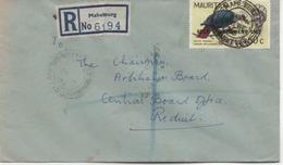 ILE MAURICE  RECOMMANDE  BUREAU  MAHEBOURG - Mauritius (1968-...)